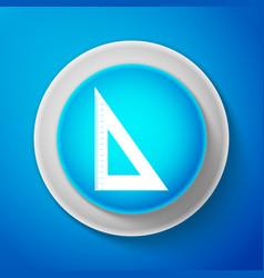 White triangular ruler icon straightedge symbol vector