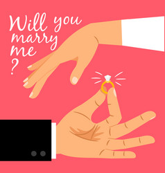 Will you marry me poster vector