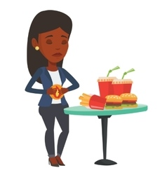 Woman suffering from heartburn vector image
