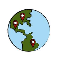 World locations symbol vector