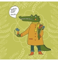 You and me of a crocodile and a vector image