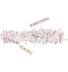 young entrepreneurs text background word cloud vector image