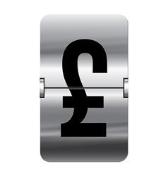 Alphabet silver flipboard letters pound vector image vector image