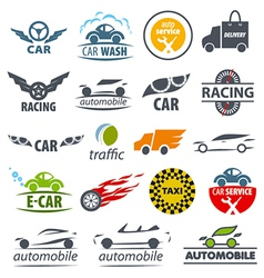biggest collection logos Car vector image
