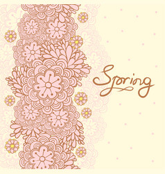 cute floral romantic card spring background vector image