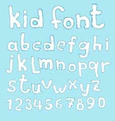 Doodle kid abc typeset vector image