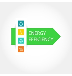 Energy efficiency logo vector image vector image
