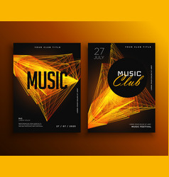 Music club party flyer poster design template vector