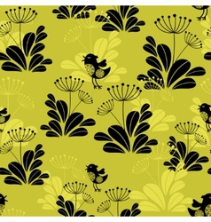 Seamless pattern with small bird vector image
