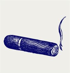 Havana cigar burned vector image vector image