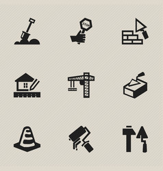 set of 9 editable structure icons includes vector image