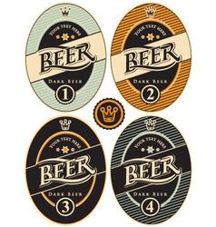label of beer vector image vector image