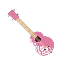 pink ukulele isolated fine performance stringed vector image