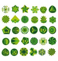 set of green logo vector image vector image