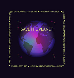 world earth day concept vector image