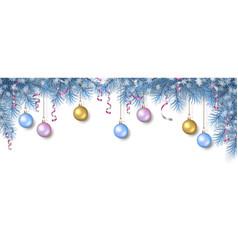 christmas spruce border vector image