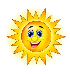 Cute Sun Cartoon vector image