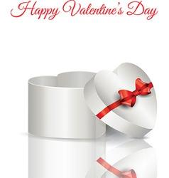 Heart shaped gift box vector image