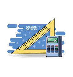 school supplies education concept vector image