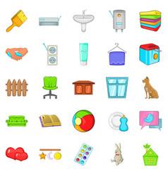 soft towel icons set cartoon style vector image