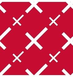 Stylized danish flag pattern vector