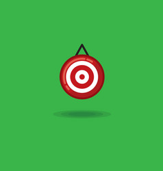 target on a green background vector image vector image