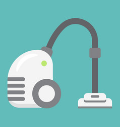 Vacuum cleaner flat icon electric and appliance vector