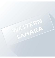 Western Sahara unique button vector image