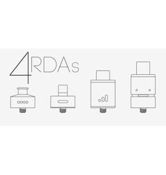 4 thin lines RDAs set vector