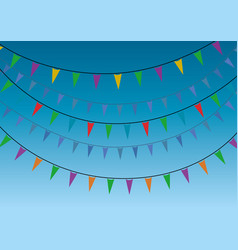 A group of party miniflags garlands vector