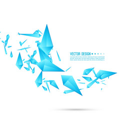 abstract background with dynamic fragments vector image