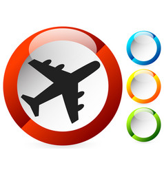airplane airline aircraft icon icon for flight vector image