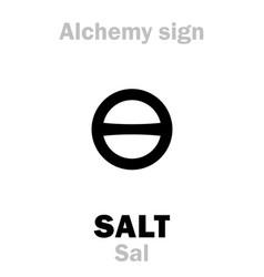 Alchemy salt sal vector