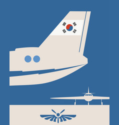 an airplane tail vector image