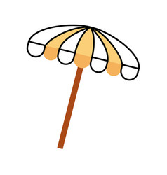 Beach umbrella summer icon vector