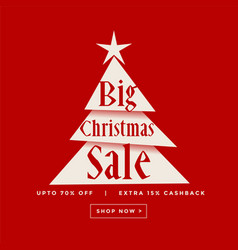 Big christmas sale poster design vector