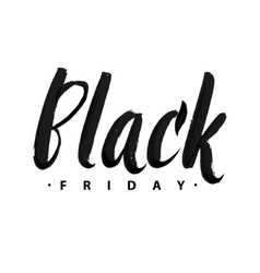 Black Friday Sale Promo Abstract Calligraphic vector image