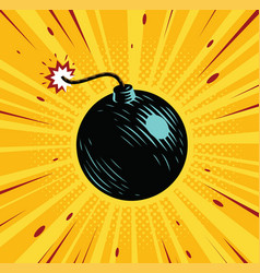 Boom bomb blast comic pop art retro style vector