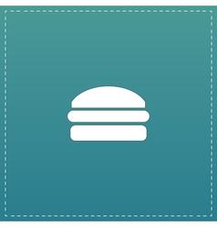 Burger flat icon vector