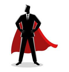 businessman as a superhero vector image