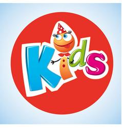 cartoon characters kids logo vector image