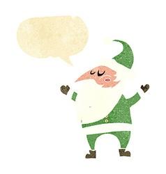 cartoon santa claus with speech bubble vector image
