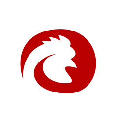 chicken rooster farm head profile symbol graphic vector image
