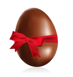 Chocolate Easter egg vector