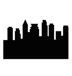 cityscape silhouette isolated icon vector image