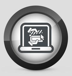 clapboard computer icon vector image