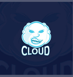 cloud sport logo template vector image