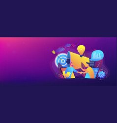 collaboration concept banner header vector image