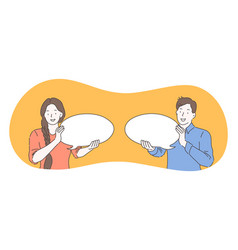 communication connection chat concept vector image