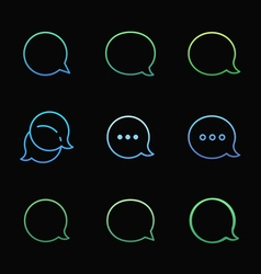 Contour Talk bubble comment and message logo icons vector image vector image